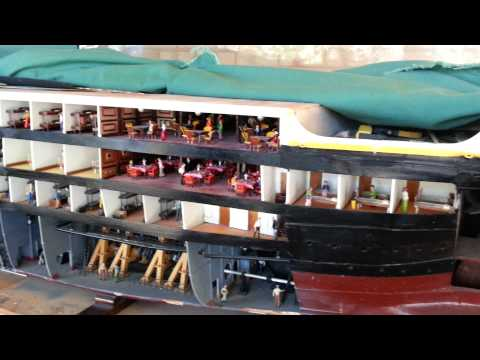 Awesome handmade Titanic wooden model ship 20131205 144008