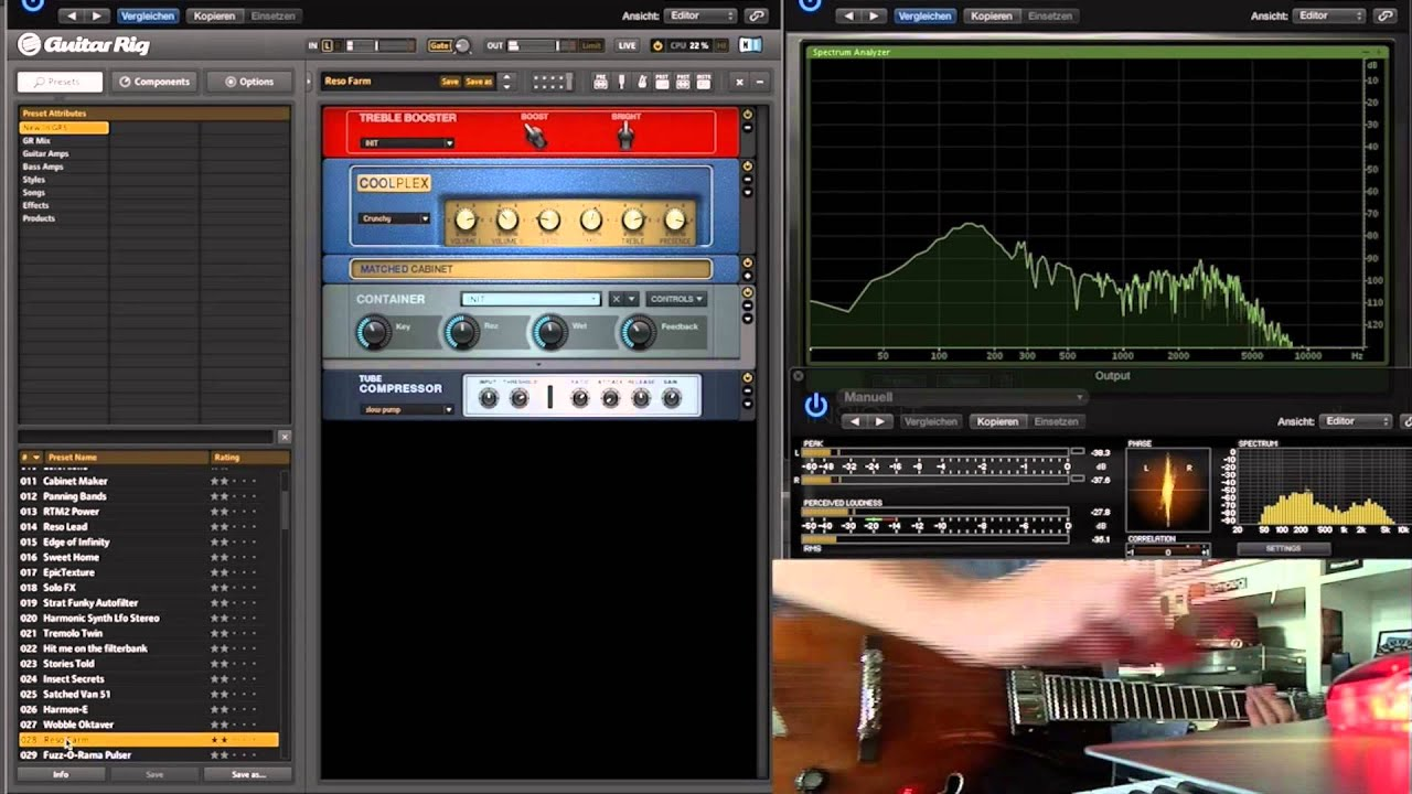GUITAR RIG 5 IN LOGIC PRO X - inspiring sounds (overview) - YouTube