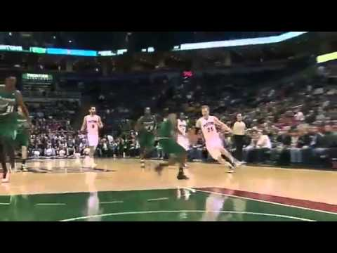 Singler HUSTLE   Detroit Pistons Vs Milwaukee Bucks   02   09   2013   NBA 2012   13 Season