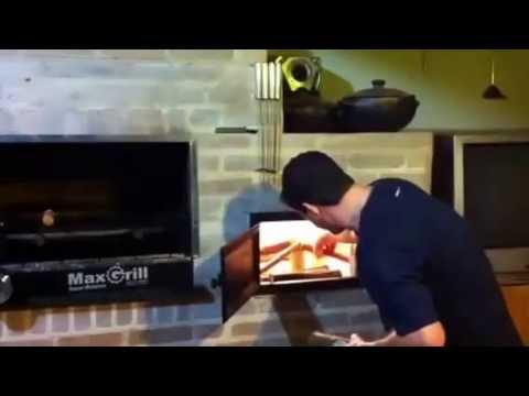 Forno a lenha para pizza portatil