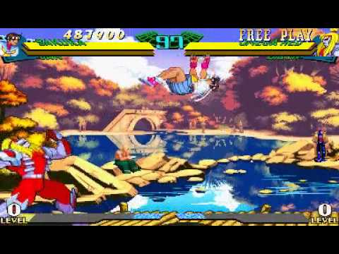 Marvel Super Heroes Vs. Street Fighter (Euro 970625) - Marvel Super Heroes Vs. Street Fighter ( - Dan and Sakura Walkthrough - User video