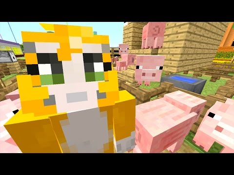 Minecraft: Xbox - Building Time - Pigsty Derby! {75}