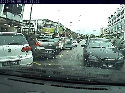 Idiot Malaysian indian driver