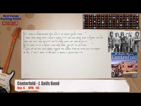 Centerfold - J. Geils Band Guitar Backing Track with chords and lyrics