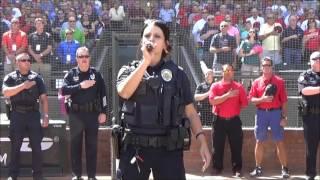 Surprise Police Officer Tanya Keplinger Sings the National Anthem