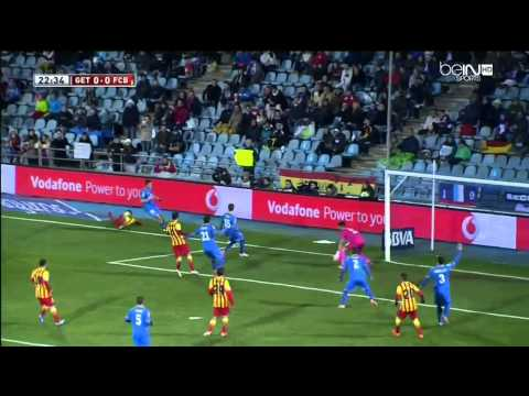 Neymar Injury vs Getafe 2014