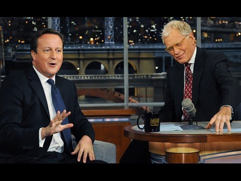 David Letterman with British PM David Cameron - September 26th 2012