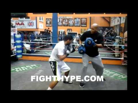 AMIR KHAN TRAINING FOR LUIS COLLAZO
