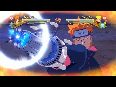Naruto Ultimate Ninja Storm 3 Full Burst Nagato Pain Character Swap Gameplay (PC w SweetFX)