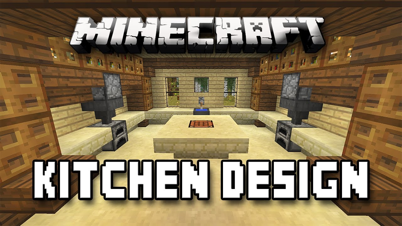 Minecraft tutorial how to build a house part 12 kitchen for Kitchen ideas in minecraft
