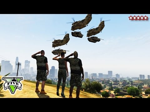 GTA 5 ATTACKING THE BASE - GTA Online Military Base Takeover - GTA Base Bloody Massacre