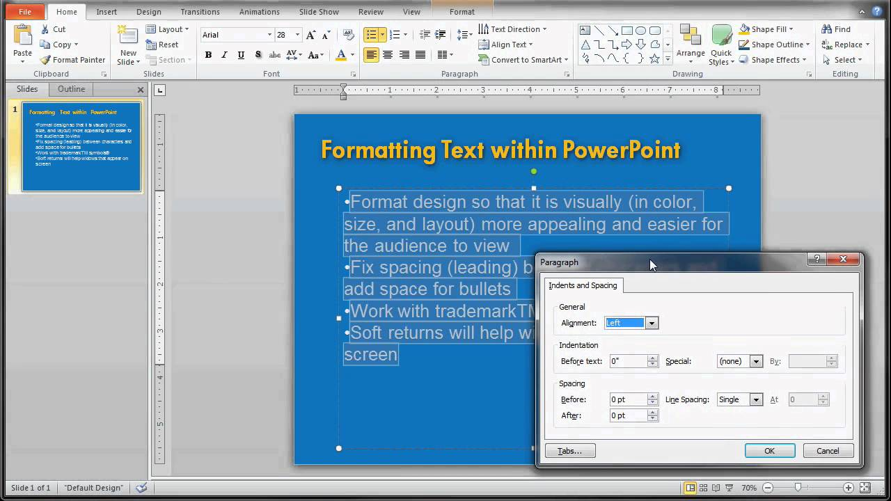 how to change youtube video format to put into powerpoint