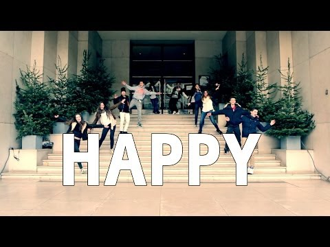 Pharrell Williams - Happy ( WE ARE SOME FRIENDS FROM BOULOGNE BILLANCOURT )