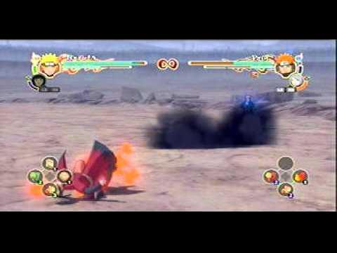 Naruto Ult. Storm 2 - Sennin (Sage Mode) Naruto/w Hinata vs Pain/w konan