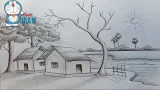 How to draw scenery of Light and shadow by Pencil sketch