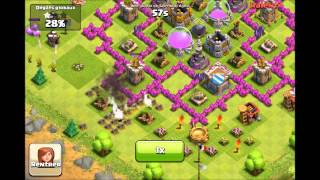 Clash Of Clans Défense Hdv Lvl 8 (2) + Attaque