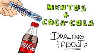 MENTOS Y COCA COLA🌋   Drawing About