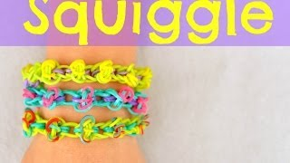How To Make A Rainbow Loom Squiggle Bracelet EASY