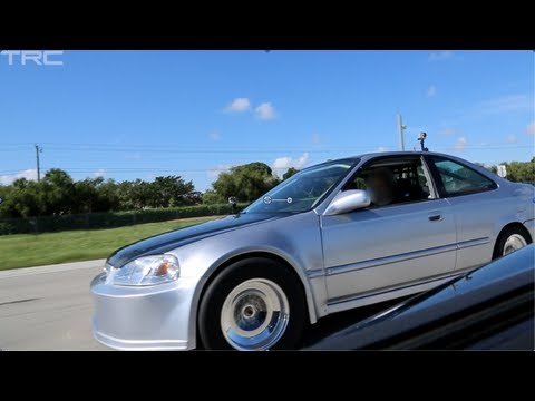 Turbo K20 Civic battles modded Corvette ZR1