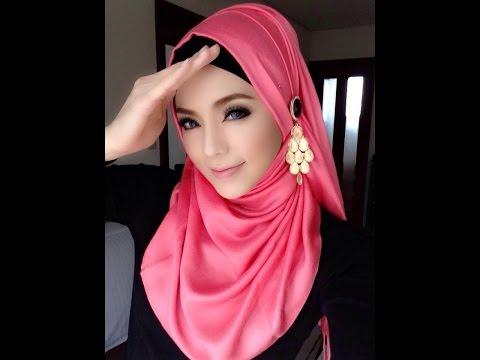 🌟Hijab Tutorial-04🌟 Cara Memakai Jilbab Pashmina * Style Pink Lovers * (Up to date)