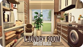 LAUNDRY ROOM | Sims 4 Laundry Day Speed Build