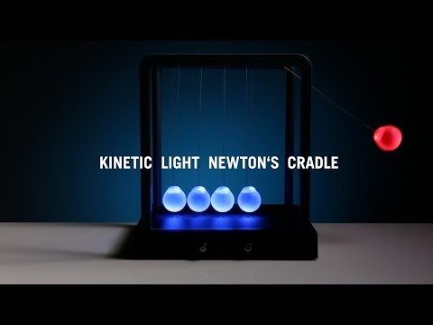 Thumbnail of video Kinetic Light Newton's Cradle from ThinkGeek