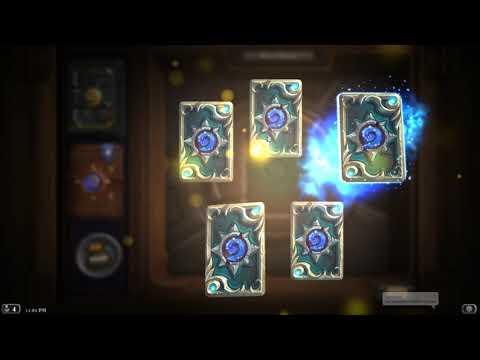 Hearthstone - 10 expert card packs opening  - Legendary