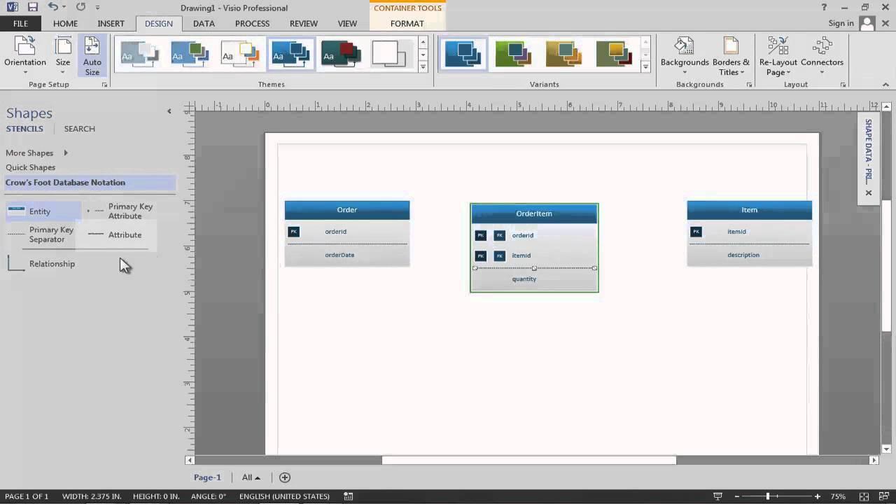data modeling in visio 2013 youtube