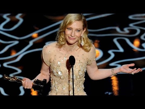 Cate Blanchett Calls Out Julia in Best Actress Oscar Speech 2014