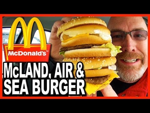 McDonald's ★Secret Menu Item★ The McLand, Air and Sea Burger Review
