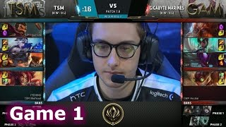 TSM vs Gigabyte Marines | Game 1 LoL MSI 2017 Play-In | TSM vs GAM G1 MSI 2017