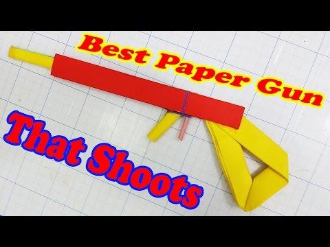 Hướng dẫn làm súng giấy đồ chơi có thể bắn được - Đơn giản