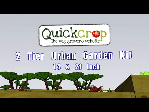 2 Tier Urban Garden Kit 14 & 21 inch