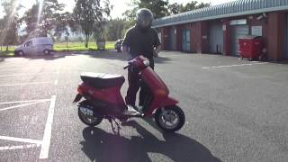 1999 PIAGGIO VESPA ZIP 50 DERESTRICTED MOPED SCOOTER GC NEW MOT & TAX & V5 45MPH view on youtube.com tube online.
