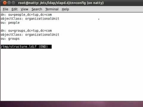 UBUNTU: Installing the openLDAP Server
