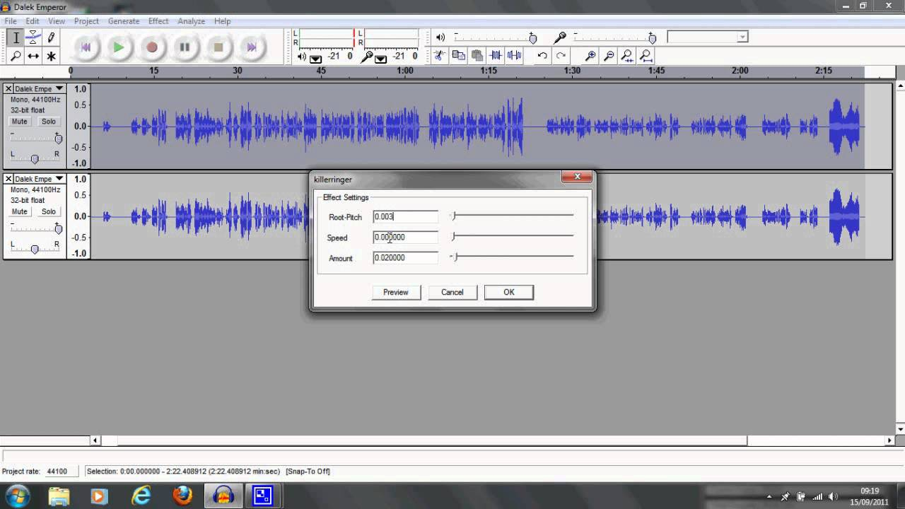 how to clear sound in audacity