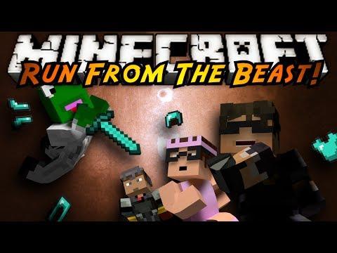 Minecraft Mini-Game : RUN FROM THE BEAST!