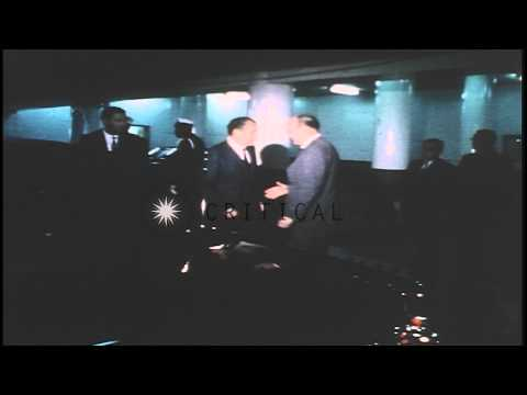 US President Richard Nixon converses with US Secretary of Defense Melvin R. Laird...HD Stock Footage