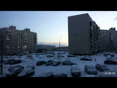 Murmansk polarnight day timelapse video