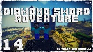 [Coop] Minecraft Diamond Sword Adventure. #14: Ледяной дворец.