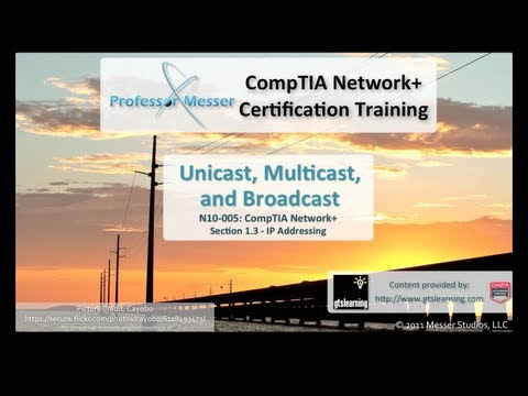 CompTIA Network+ N10-005: 1.3 - Unicast, Multicast, and Broadcast