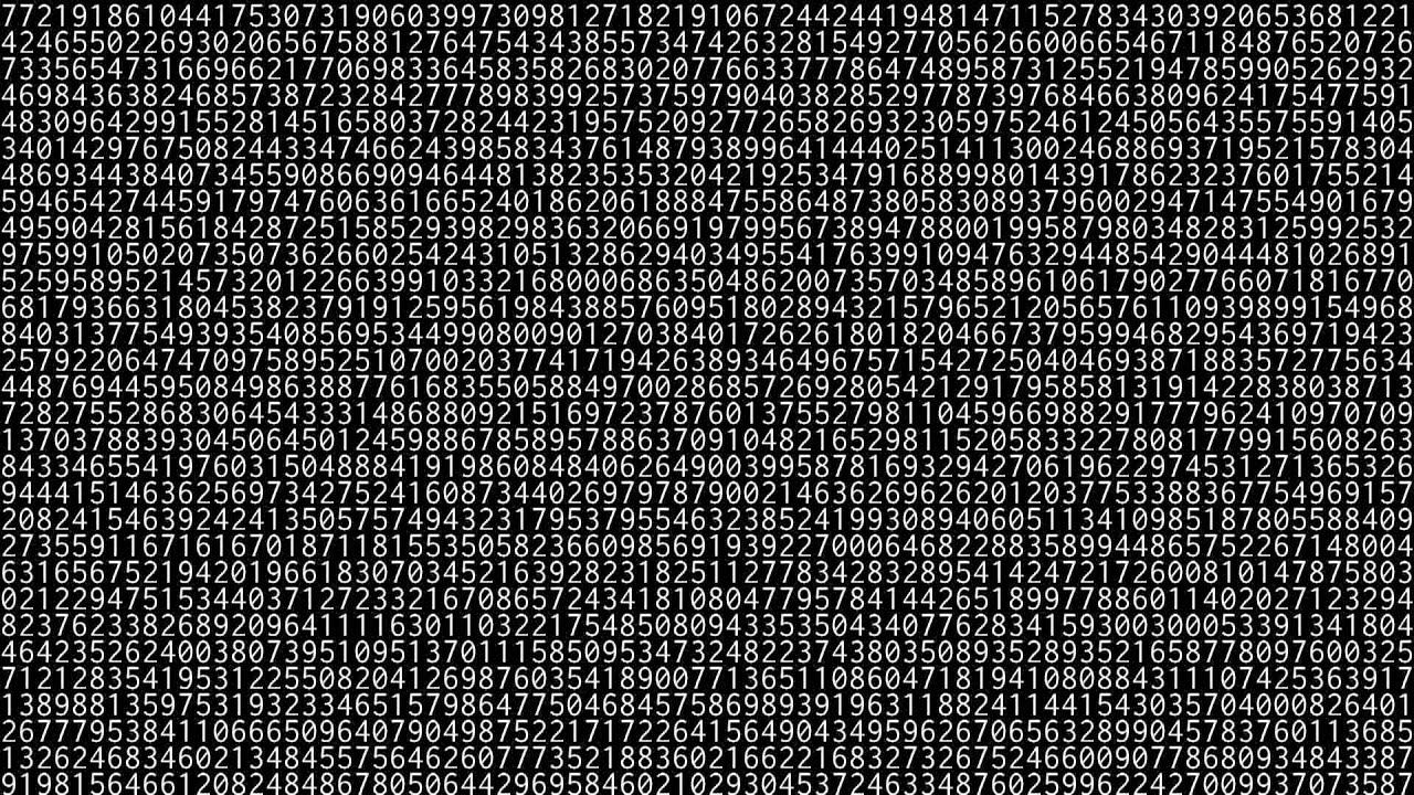 1000000 digits of pi hd 1080p youtube
