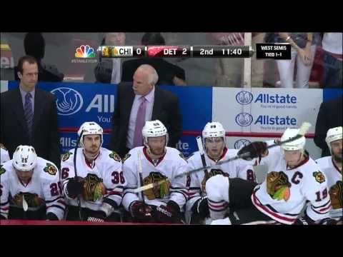 Drew Miller deflected goal 2-0 May 20 2013 Chicago Blackhawks vs Detroit Red Wings NHL Hockey