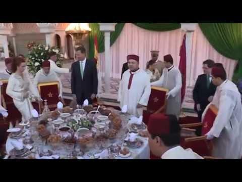 كواليس الإفطار الملكي على شرف ملك إسبانيا