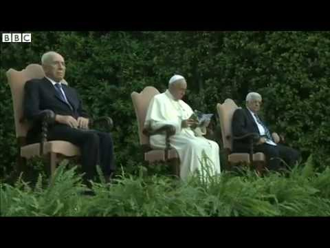 BBC News  Pope hosts Shimon Peres and Mahmoud Abbas at Vatican