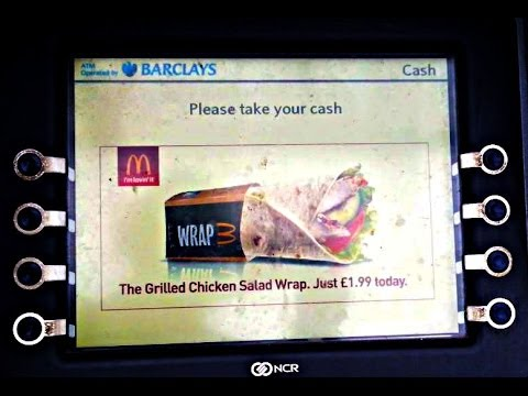 Fast Food Advertising on ATM Cash Points Machines 2014 unhealthy future