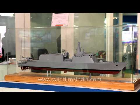 Goa Shipyard Limited showing Offshore Patrol Vessel design at Defence expo 2014