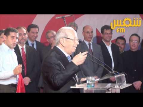 image vidéo الباجي قائد السبسي و مضيفة طيران تونس