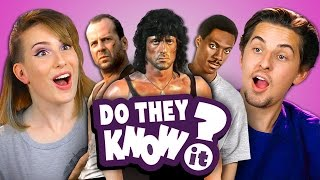 DO COLLEGE KIDS KNOW 80s ACTION MOVIES? (REACT: Do They Know It?)