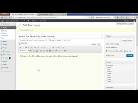 Setting Up Post Categories & Blog Pages in WordPress